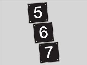 Genummerde naamplaten